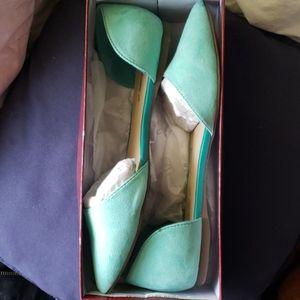 Mint Green Dressy Flats